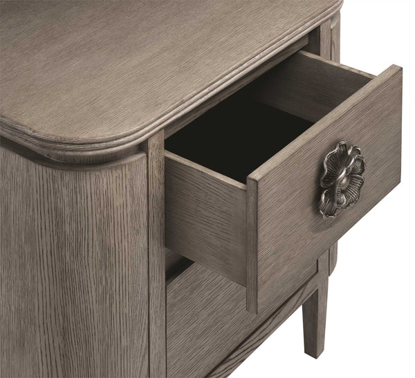 Currey and Company Briallen Nightstand, Winter Gray 3000-0099