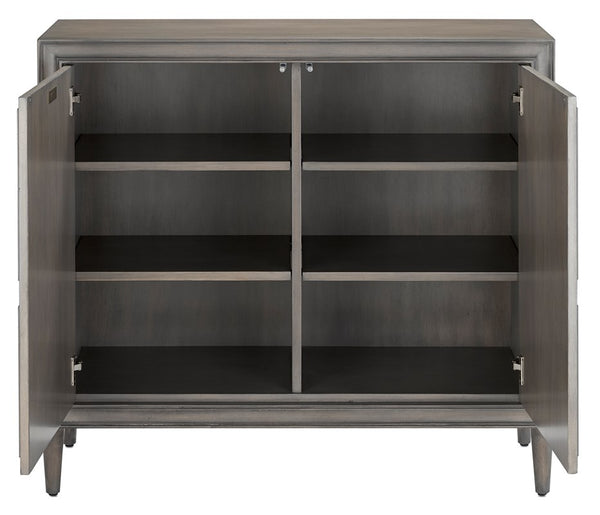 Currey and Company Counterpoint Gray Cabinet 3000-0134