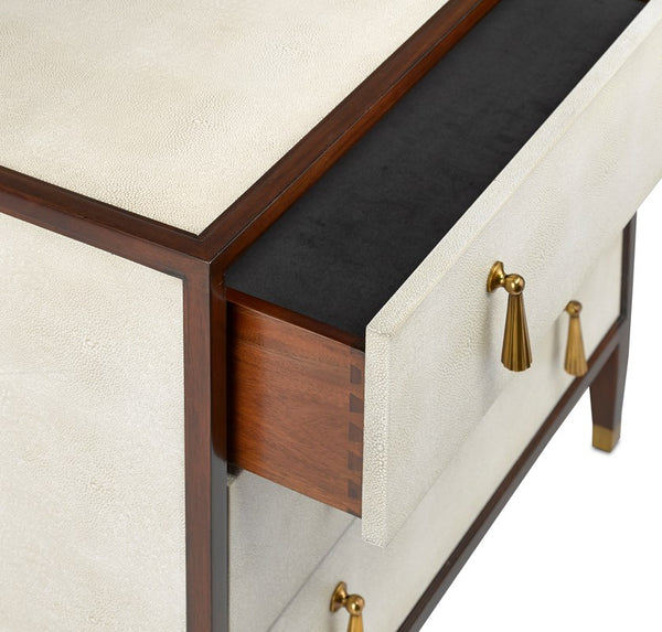 Currey and Company Evie Shagreen Chest 3000-0141