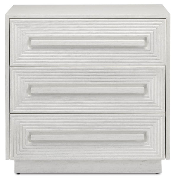 Currey and Company Morombe White Chest 3000-0150