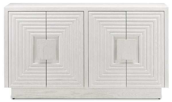 Currey and Company Morombe White Cabinet 3000-0151