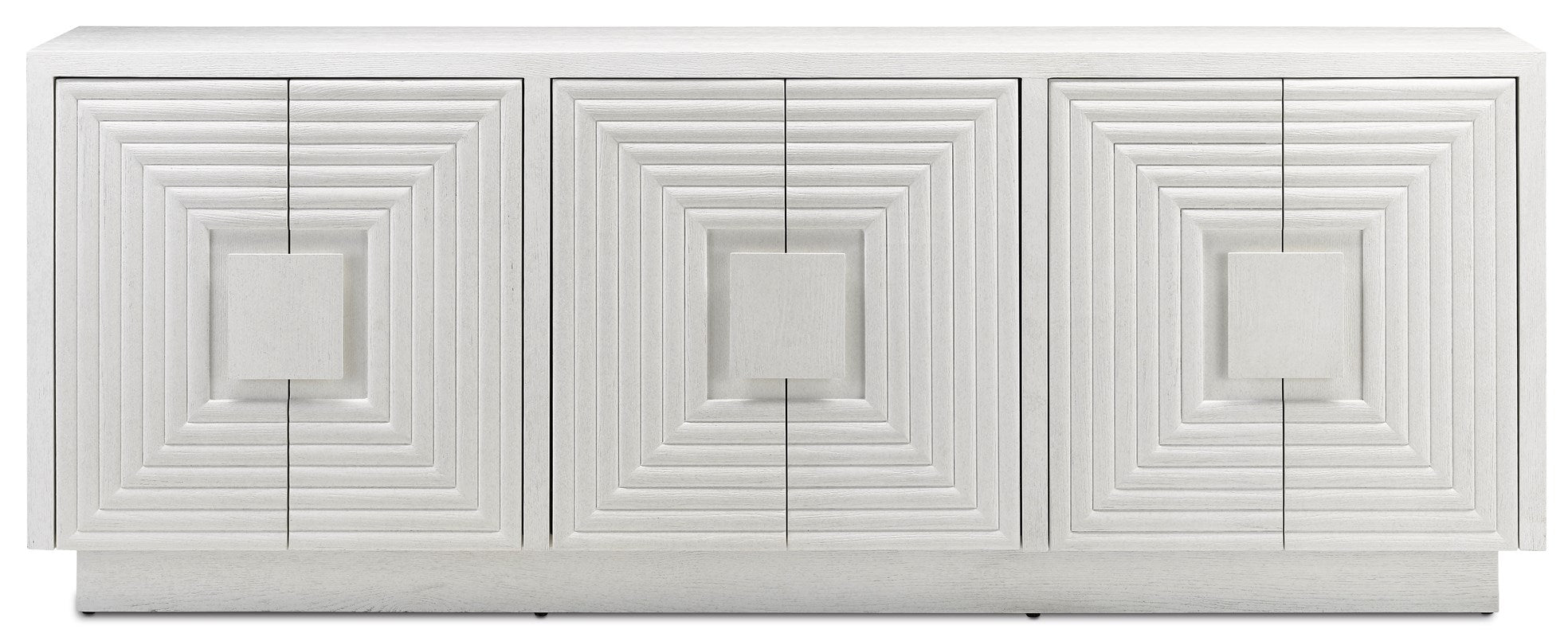 Currey and Company Morombe White Credenza 3000-0152