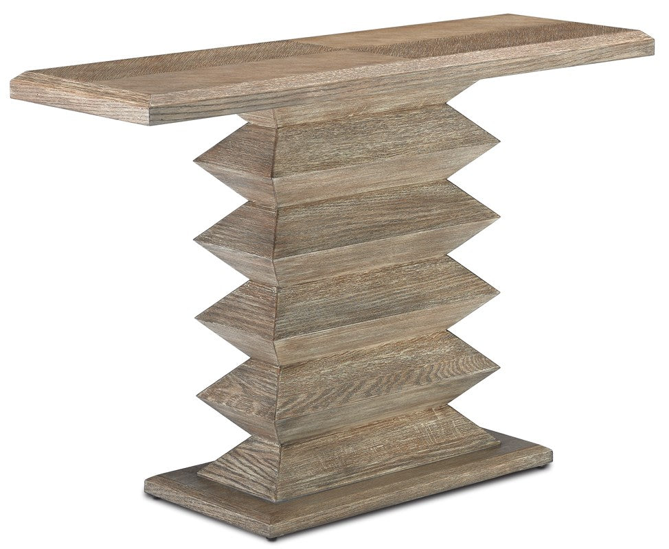Currey and Company Sayan Pepper Console Table 3000-0159