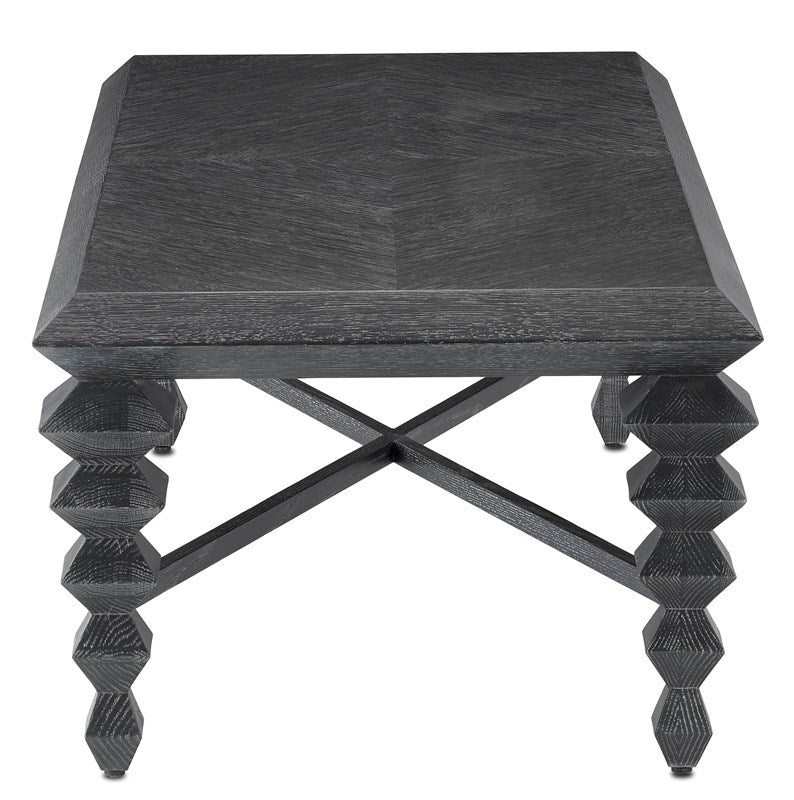 Currey and Company Saranya Black Cocktail Table 3000-0164