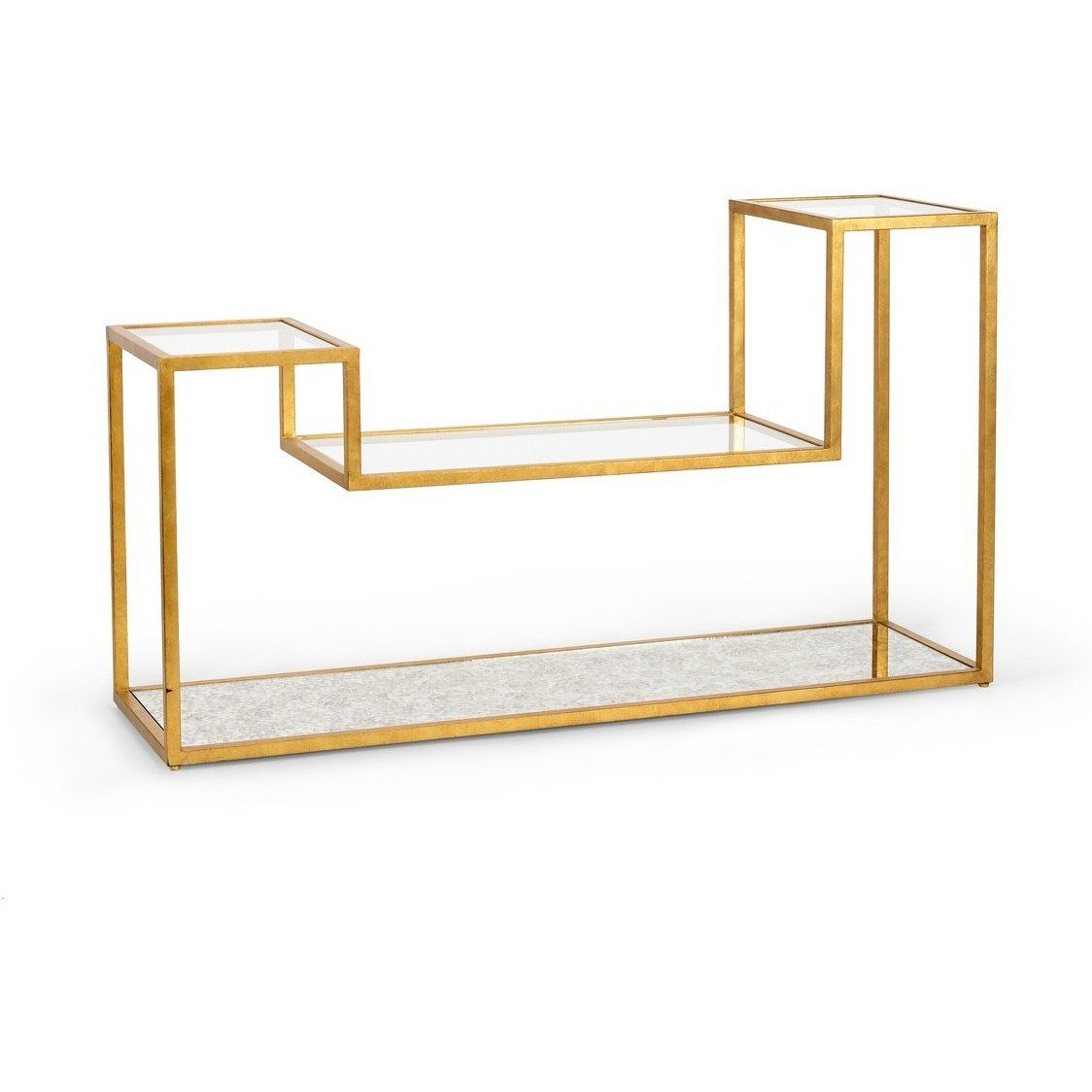 Chelsea House Tri Level Gold Metal Console Table 382333 - LOVECUP