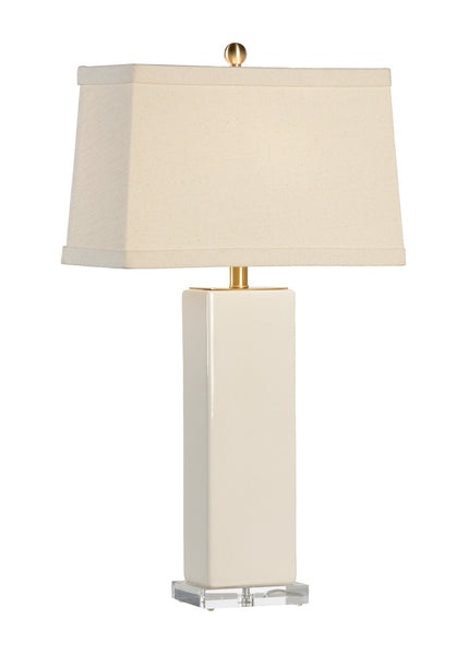 Chelsea House Becker Vase Table Lamp on Acrylic Base - Cream 68776