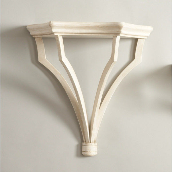 Chelsea House Large Sheraton Antique Cream Finish Bracket 380992