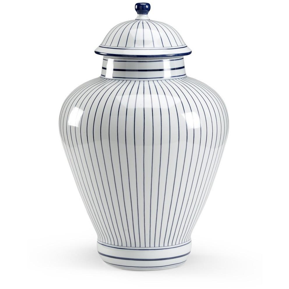 Chelsea House Castle Large Blue Porcelain Urn 382130 - LOVECUP