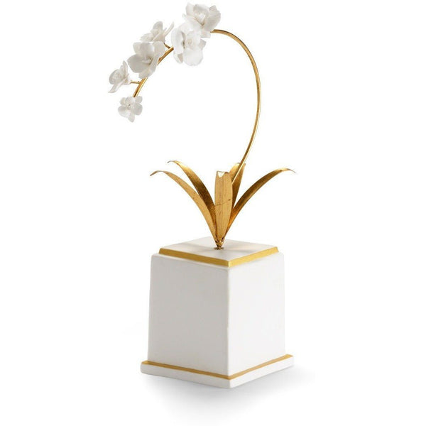Chelsea House Square Gold Flower Accent 382892