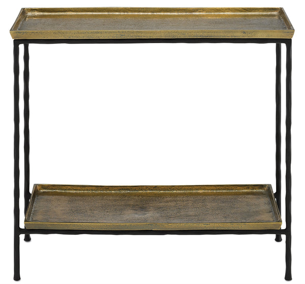Currey and Company Boyles Brass Side Table 4000-0060