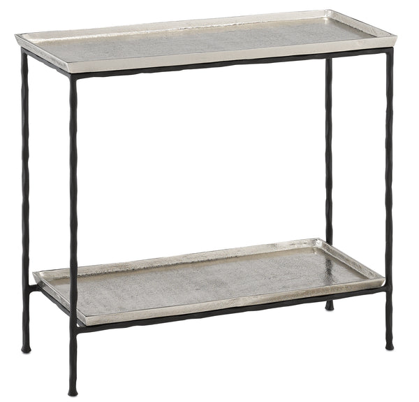 Currey and Company Boyles Silver Side Table 4000-0061