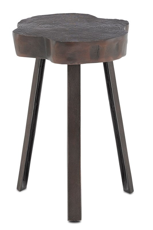Currey and Company Mambo Graphite Accent Table 4000-0085