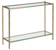 Currey and Company Logan Gold Console Table 4000-0112