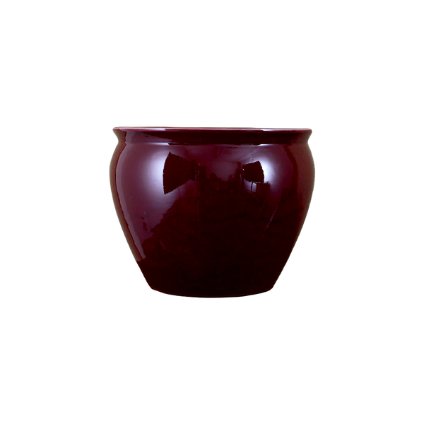Lovecup Oxblood Red Porcelain Fishbowl Shape Vase L017
