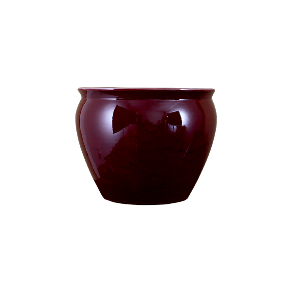 Lovecup Oxblood Red Porcelain Fishbowl Shape Vase L018