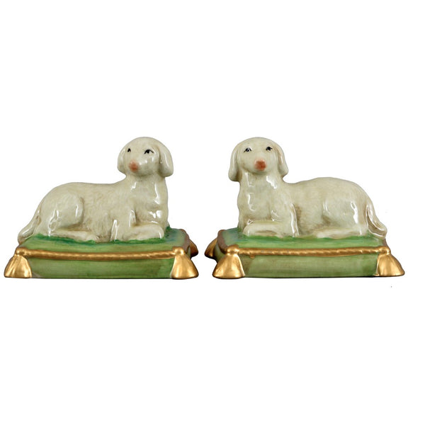 Pair Of Sheep Staffordshire Reproduction