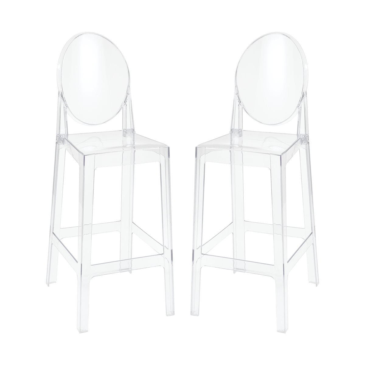 Picture of: Lovecup Lindsay Acrylic Bar Stool Set Of 2 L1207 Lovecup