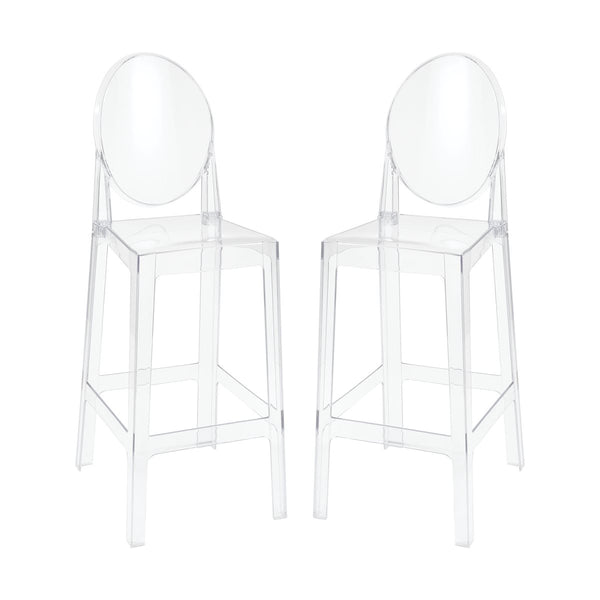 Lovecup Lindsay Acrylic Bar Stool Set of 2 L1207