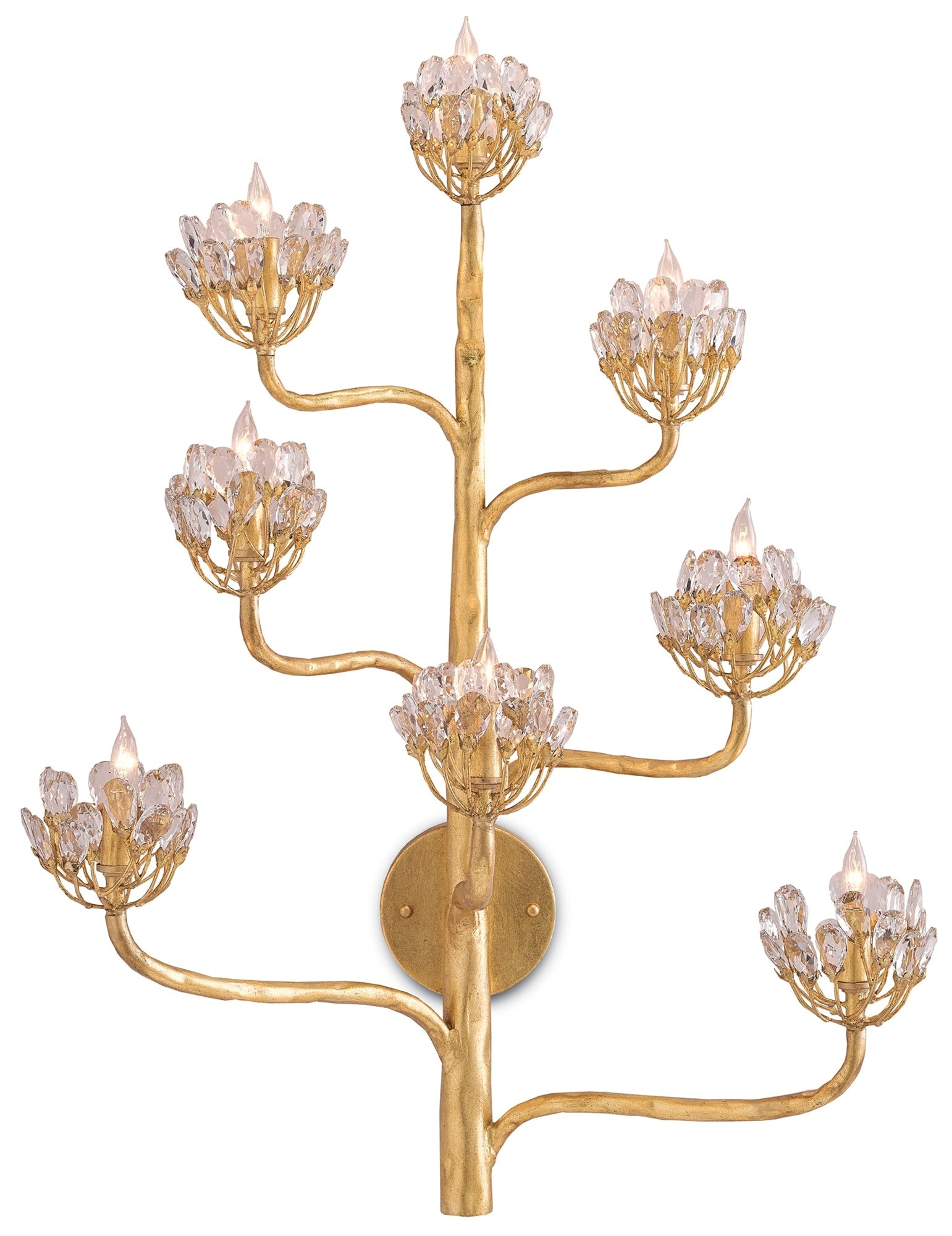 Currey and Company Agave Americana Wall Sconce, Gold Leaf 5000-0058