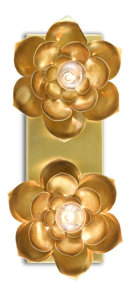 Currey and Company Blossom Two-Light Wall Sconce 5000-0164