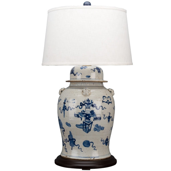 Lovecup Blue and White Garden Table Lamp L248
