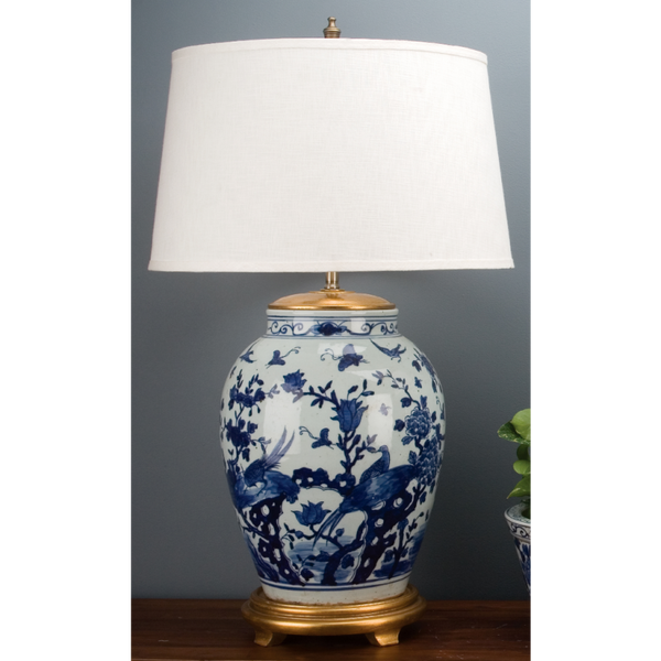 Lovecup Blue and White Porcelain Table Lamp L327