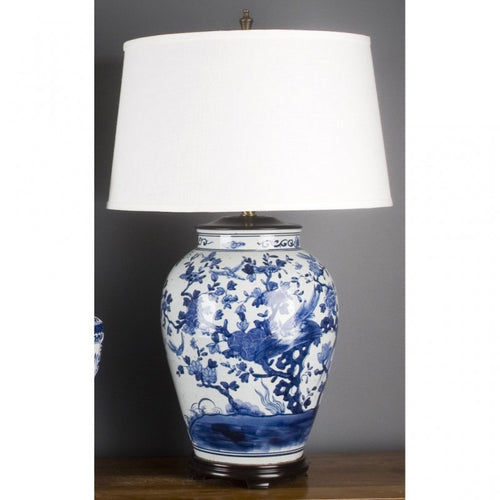 Lovecup PORCELAIN LAMP - BLUE AND WHITE FLORAL L327