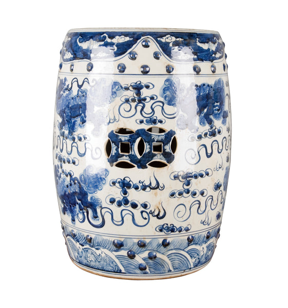 Lovecup Blue and White Porcelain Garden Stool L328