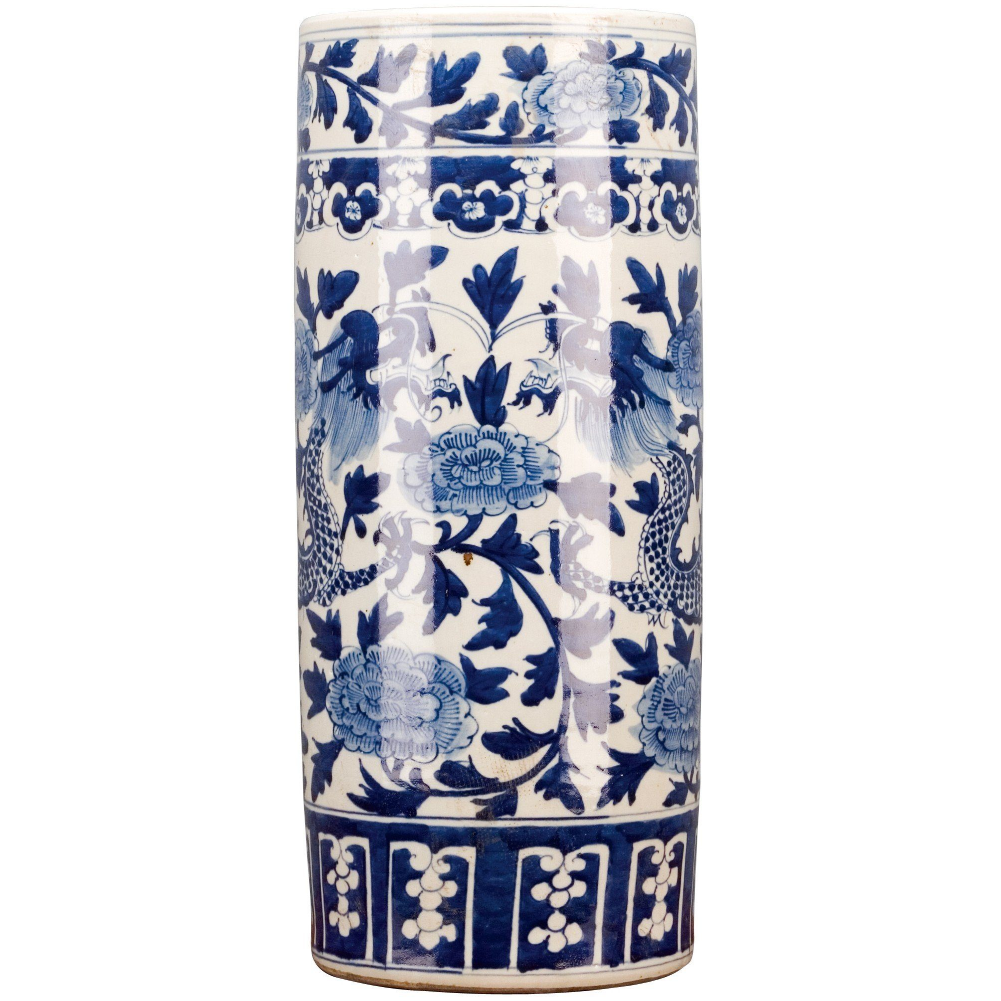 Lovecup Classic Blue And White Porcelain Umbrella Stand   LOVECUP