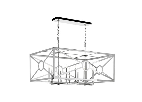 Matthew Frederick Chilton Grove  Rectangular Chandelier - Nickel 65732