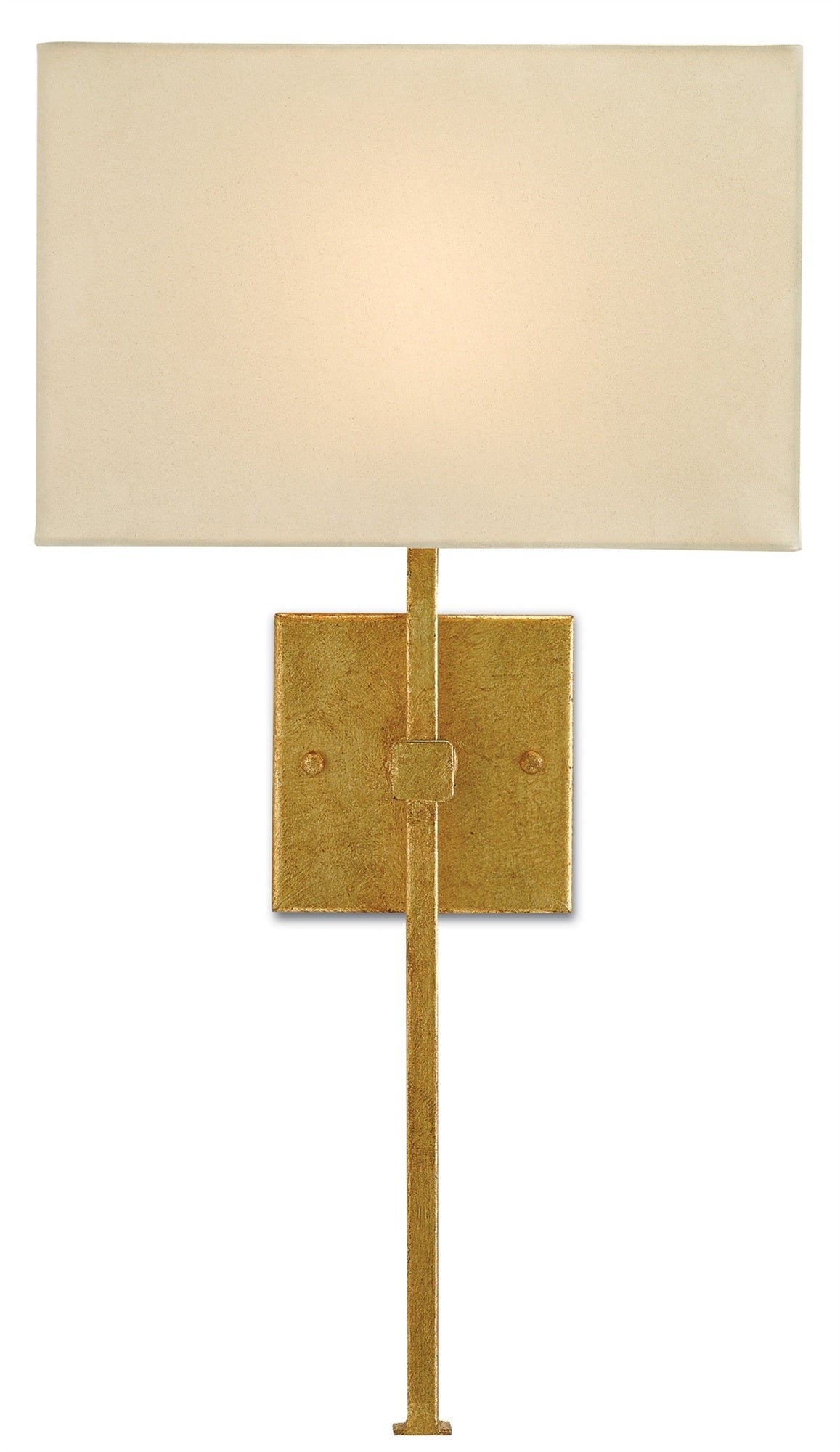 Currey and Company Ashdown Wall Sconce, Gold Leaf 5900-0005