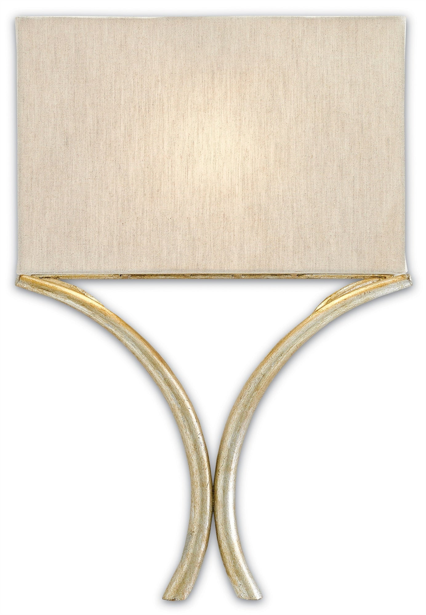 Currey and Company Cornwall Wall Sconce, Silver Leaf 5900-0006