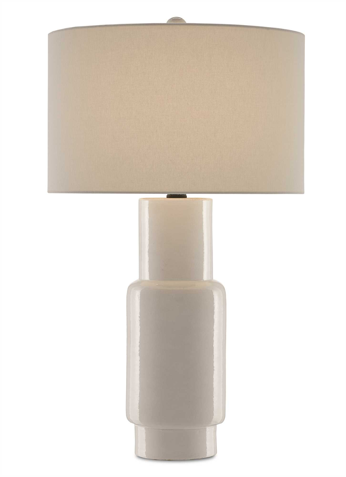 Currey and Company Janeen Table Lamp, White 6000-0300