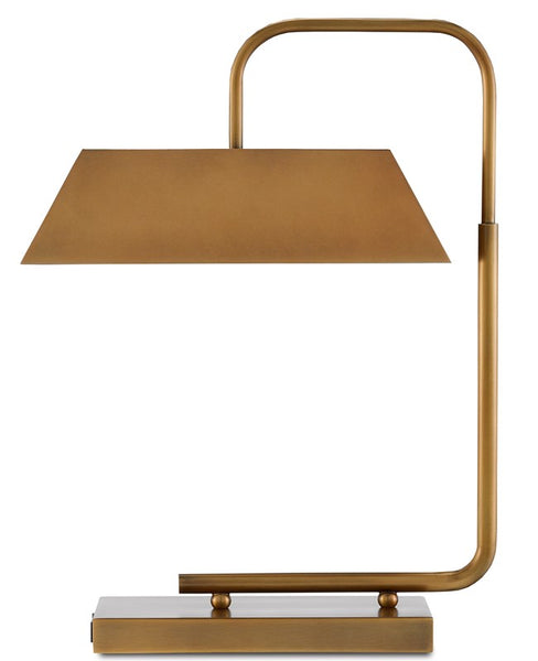 Currey and Company Hoxton Brass Table Lamp with USB Port 6000-0565
