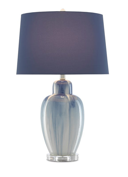 Currey and Company Solita Blue Table Lamp 6000-0584
