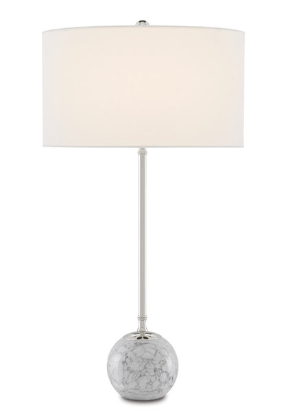 Currey and Company Villette White Table Lamp 6000-0646