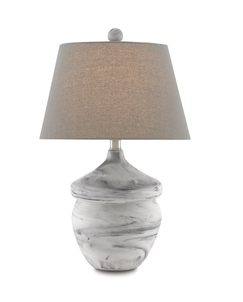 Currey and Company Vitellina Gray Table Lamp 6000-0669