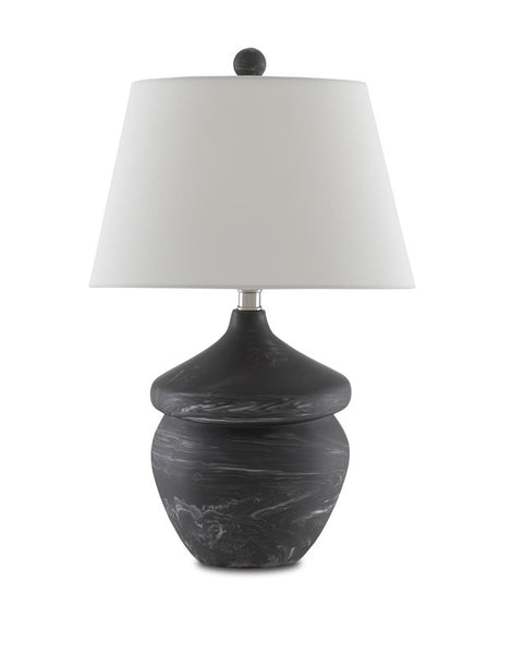 Currey and Company Vitellina Black Table Lamp 6000-0670