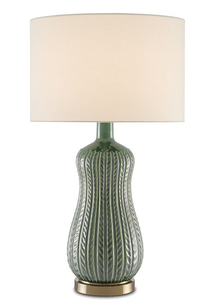 Currey and Company Mamora Green Table Lamp 6000-0673