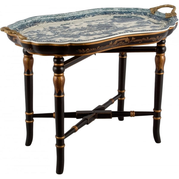 Lovecup TRAY TABLE WITH WOOD STAND-BLUE WILLOW L188