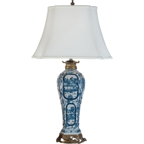 Lovecup Blue & White Willow Porcelain Table Lamp L249