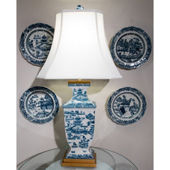 Lovecup Blue Willow Porcelain Table Lamp L254