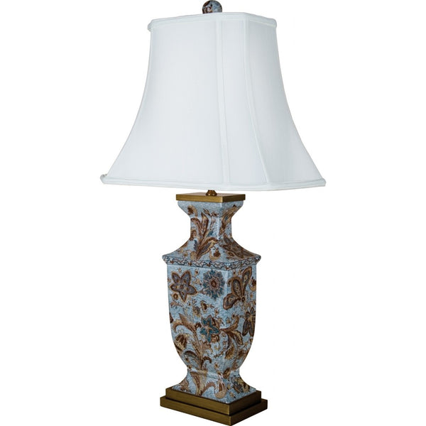 Lovecup PORCELAIN LAMP WITH SILK LAMP SHADE L280