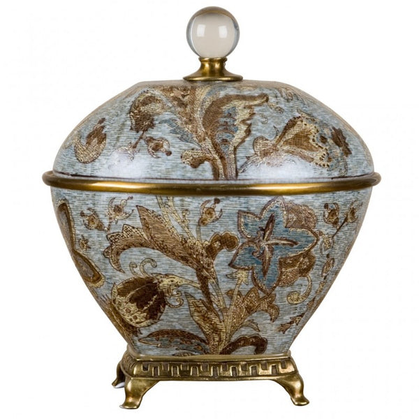 Lovecup PORCELAIN BOX WITH BRONZE ORMOLU-MONTICELLO