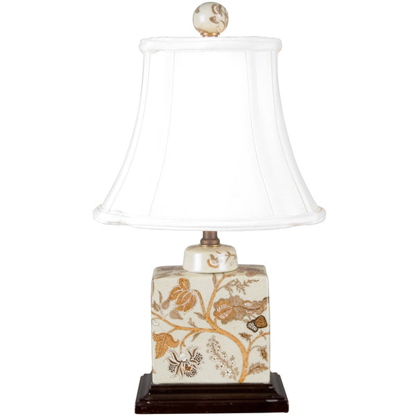 Lovecup Autumn Flowers Square Table Lamp L305