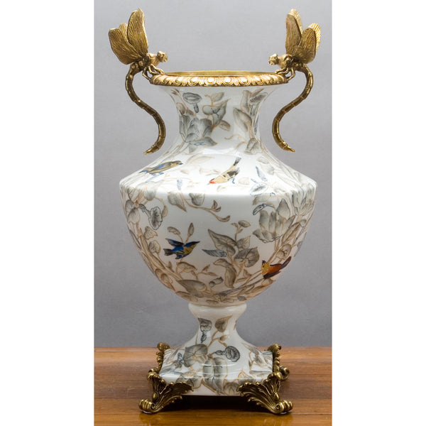 Lovecup Bronze Dragonfly Accent Vase -Tessa L312