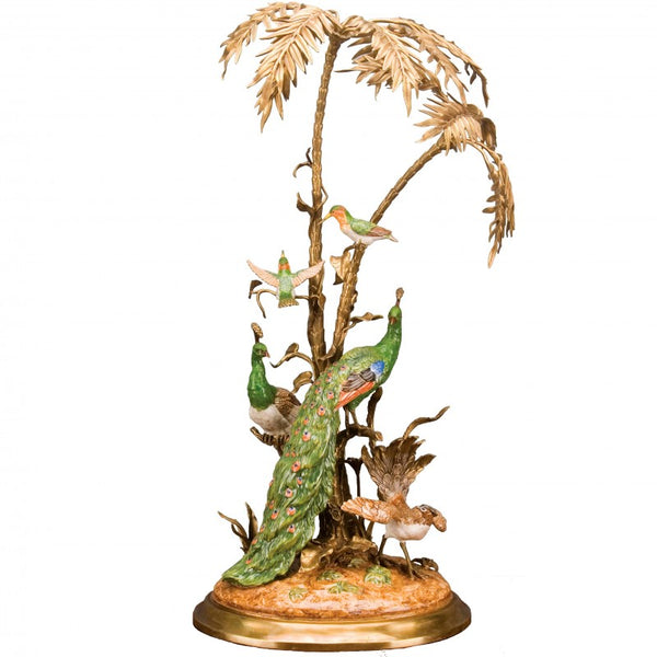 Lovecup Porcelain Peacock Palm Garden L337