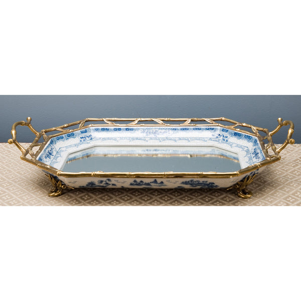 Lovecup  Blue and White Porcelain with Mirror Tray L225