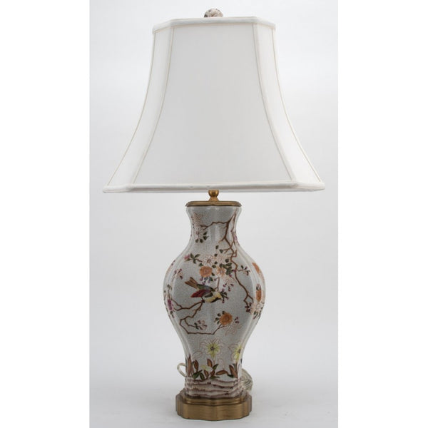 Lovecup Porcelain Table Lamp with Birds and Flowers L395
