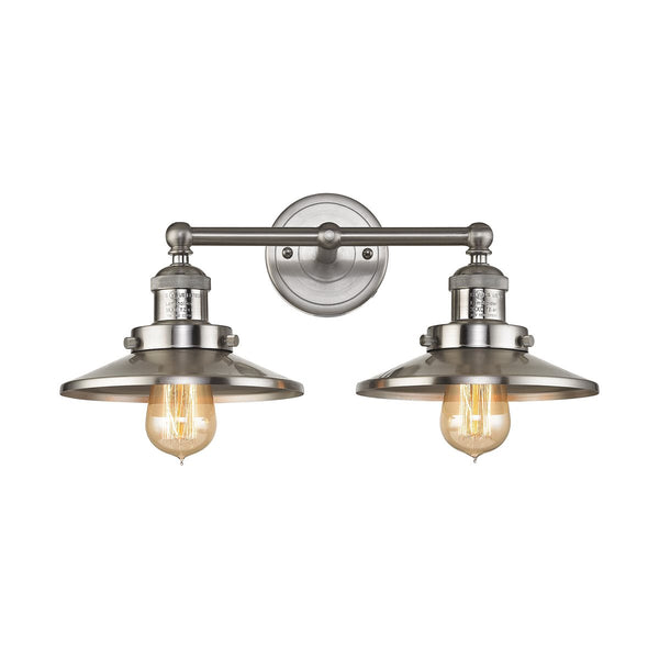Lovecup Farmahouse Satin Nickel Bathroom Vanity 2-Lights